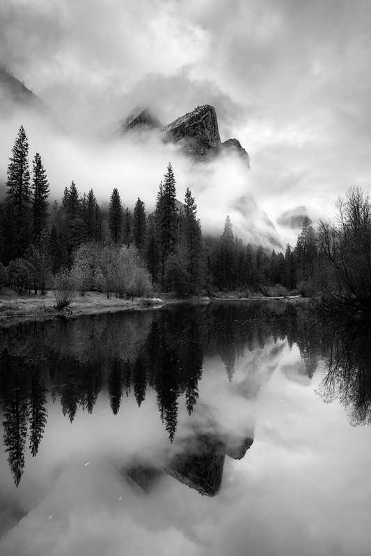 The Three Brothers in Yosemite National Park, California.