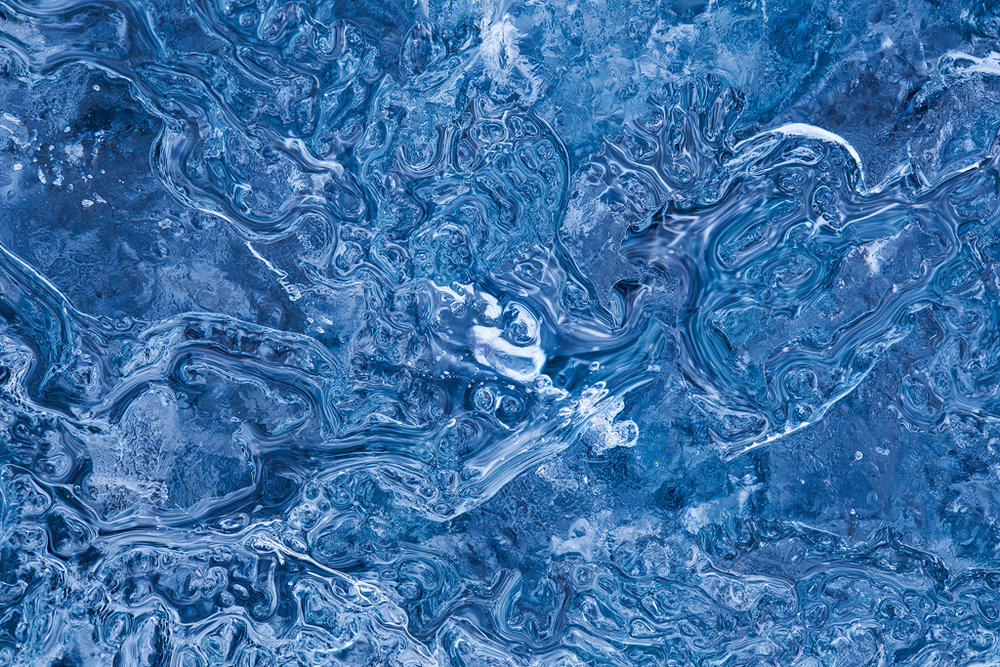Ice Swirlies. These ice patterns are only noticeable close up.