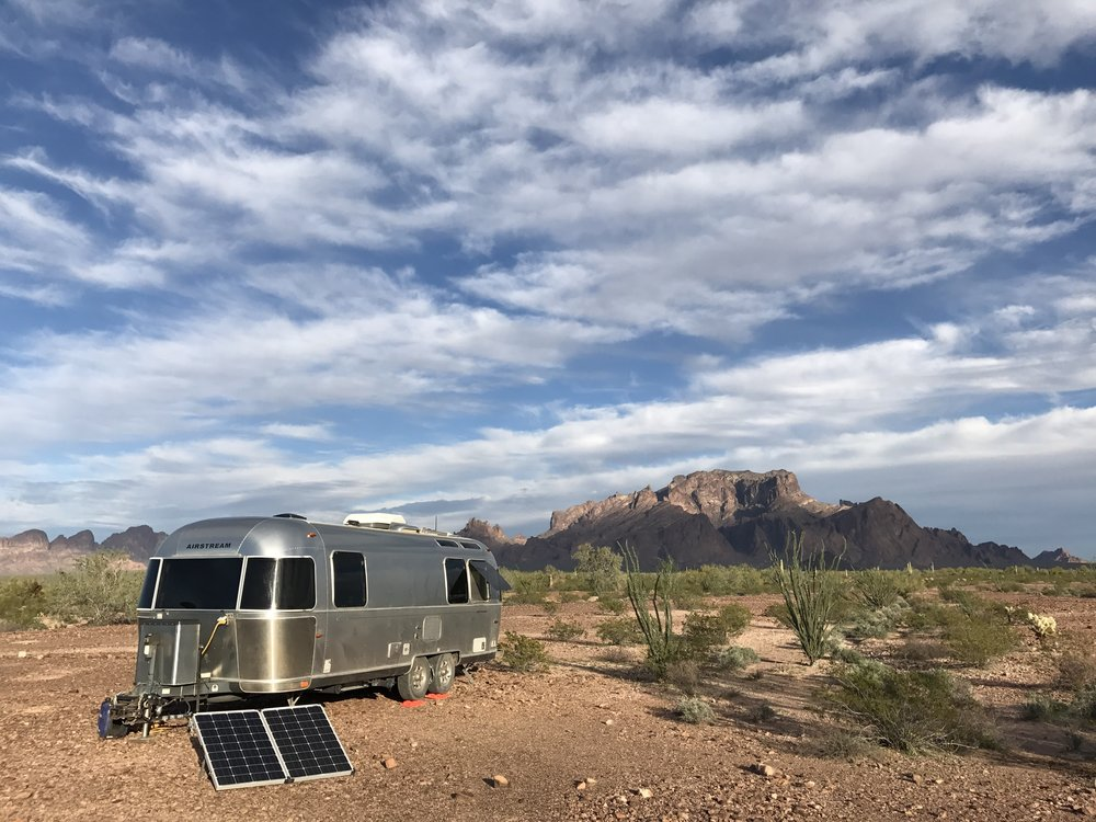 Dry camping in the Sonoran Desert in southwest Arizona