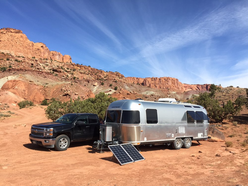 Dry camping just outside of Capitol Reef National Park