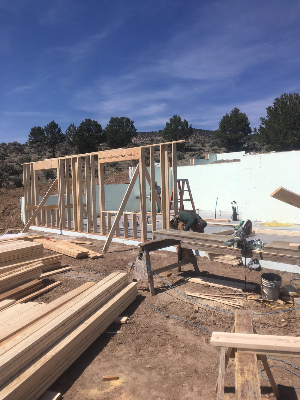 Apr 11 - Framing begins (guest rooms)