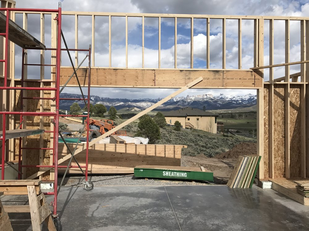 April 26 - Garage framing
