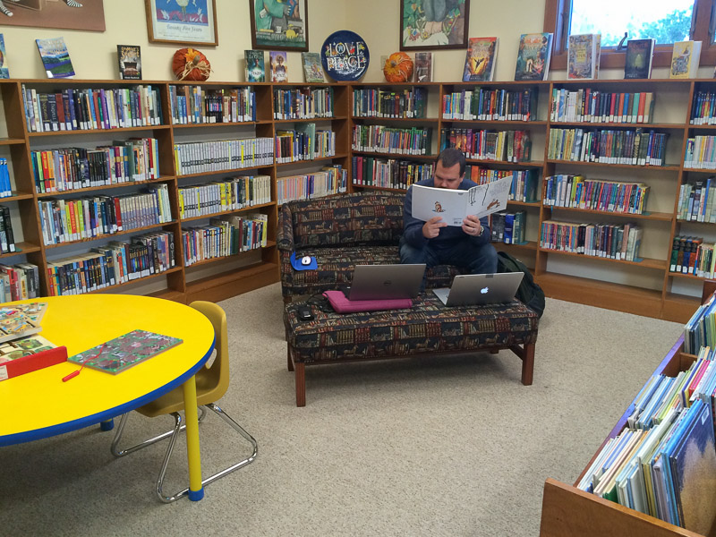 Working in the Cannon Beach Library
