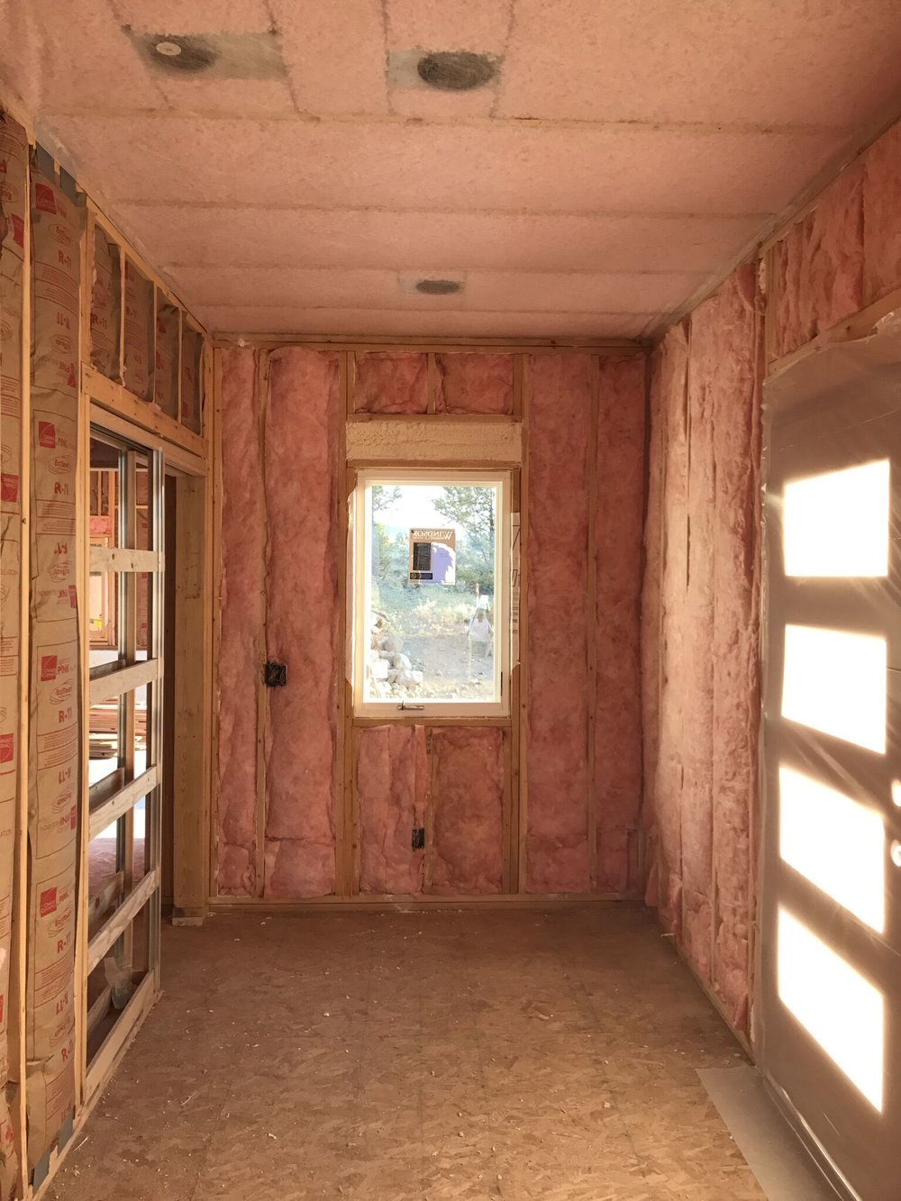 June 29 - Mud room insulation