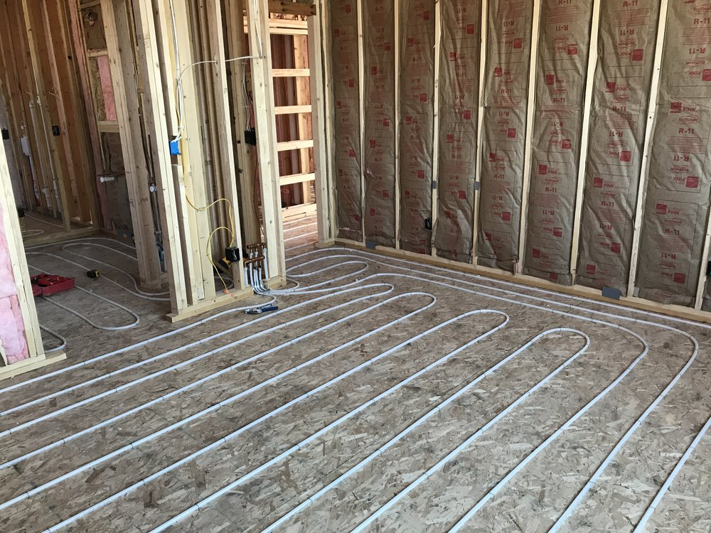 July 10 - Radiant floor piping