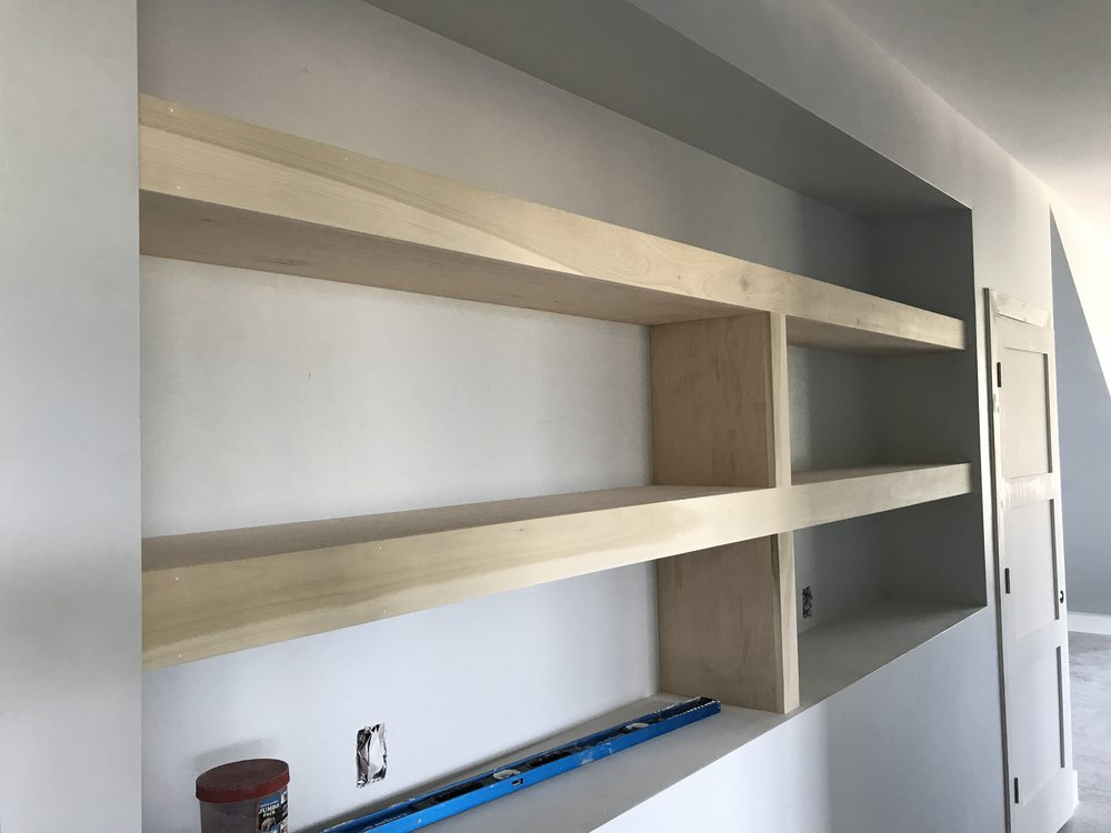 August 16 - Built in bookshelf