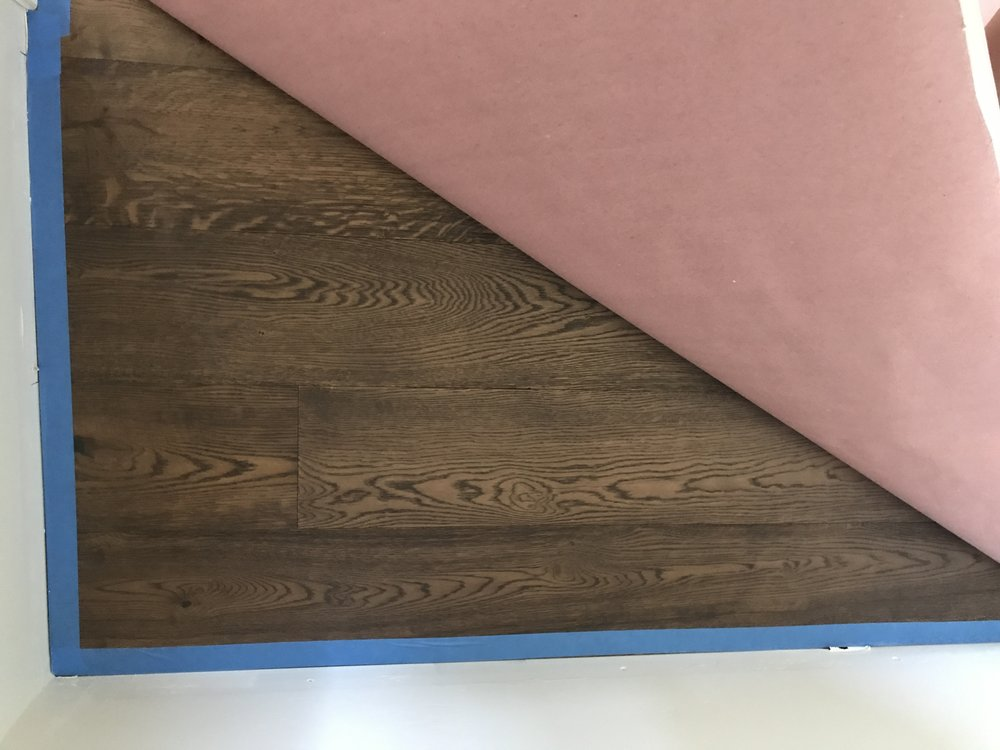 September 3 - Hardwood floor (currently covered)