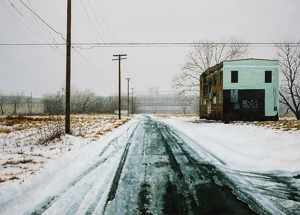 "Stephanie Buer  ""The Packard""  (2014)  Oil on canvas  42 x 30"""