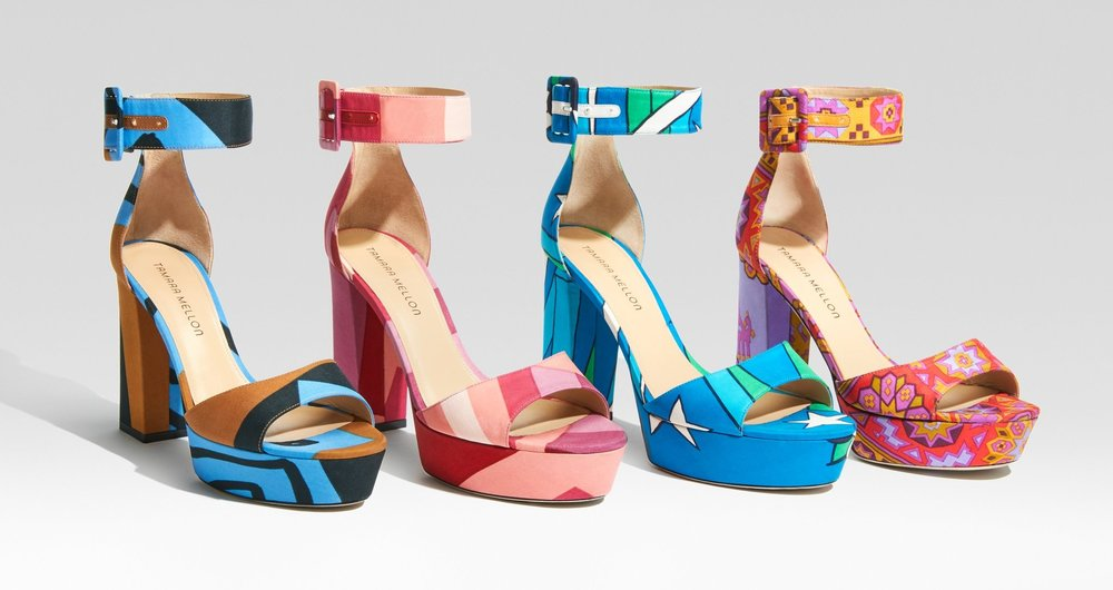 Tamara Mellon Scarf shoes (Image from their website)