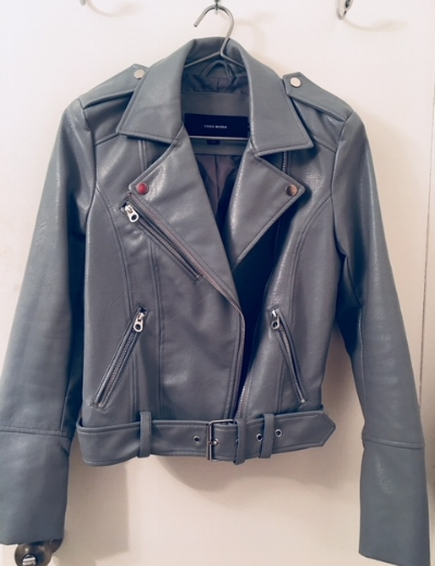 light blue moto jacket