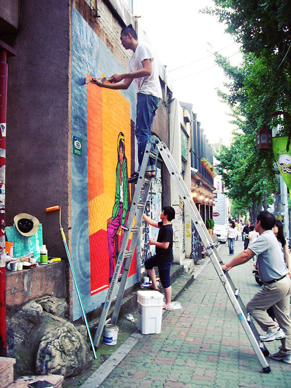 Artists on the Street of Hongdae, Korea, ©  blog.gm-korea.co.kr
