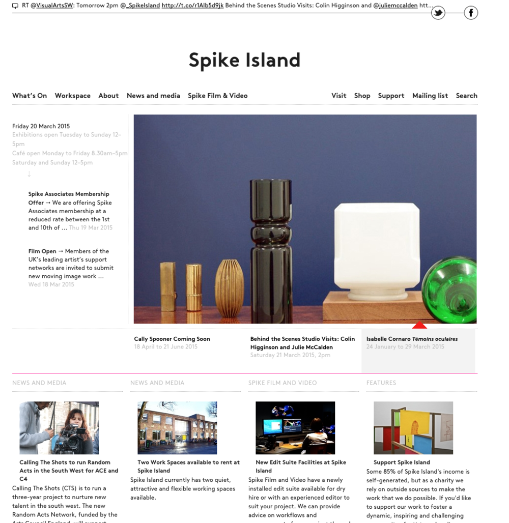 Spike Island Website  ,  www.spikeisland.org.uk