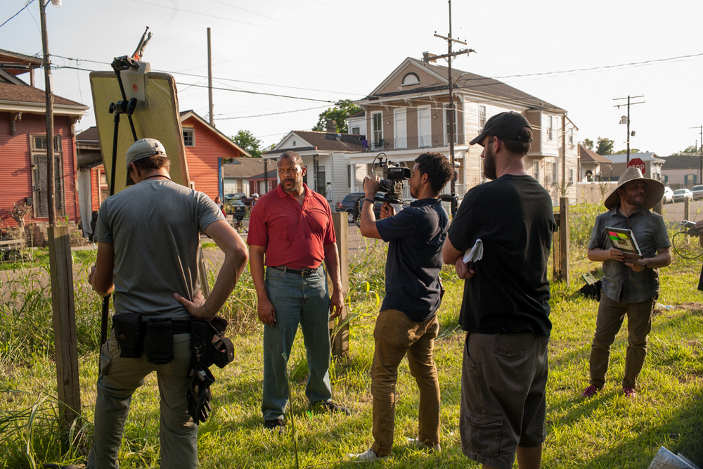 On Set in New Orleans, Summer 2014, Photo by Hilary Bronwyn Gayle