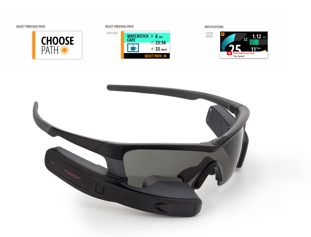 PATHWAYS - An application designed for Recon Jet - a smart set of goggles by Recon Instruments - to motivate and inform cyclists.