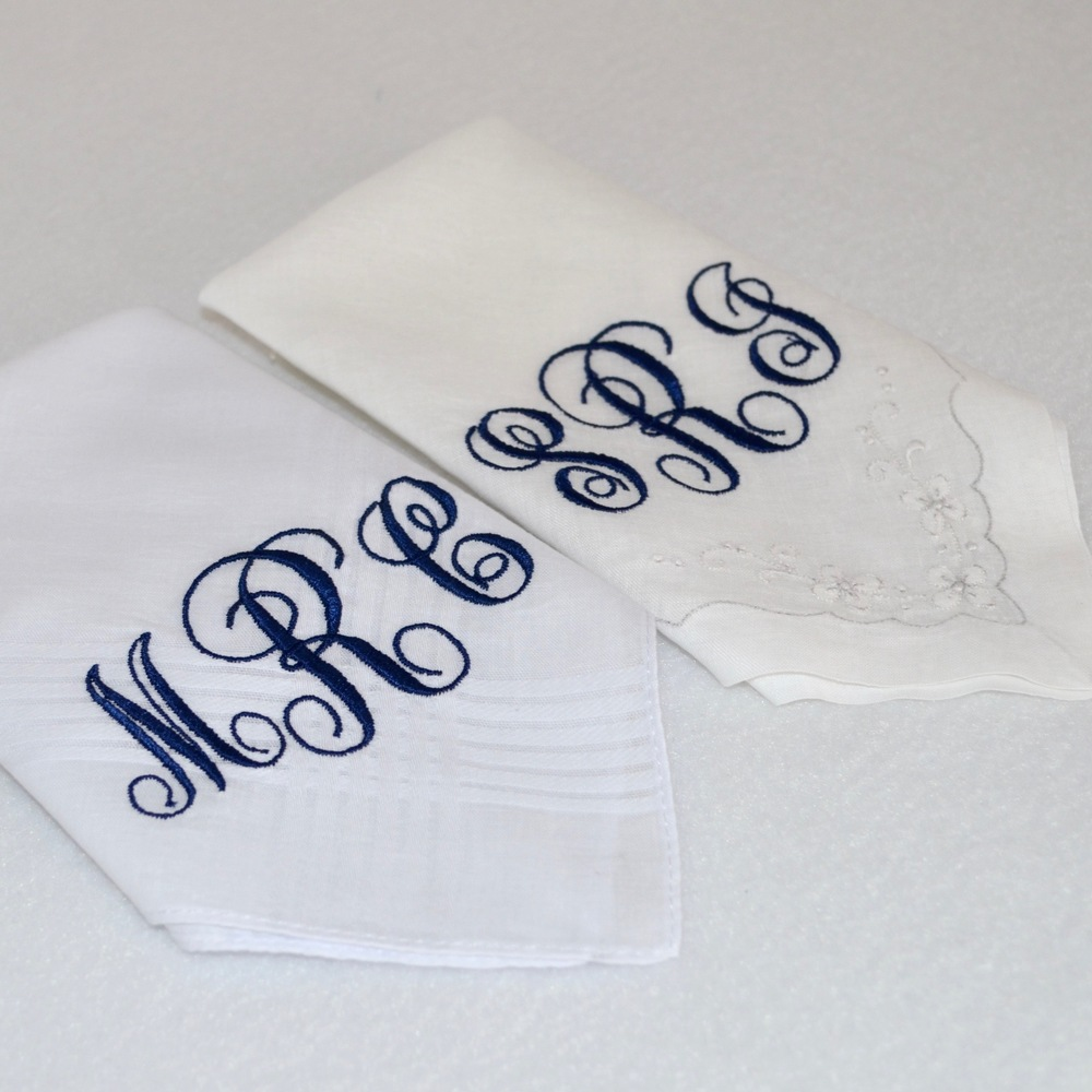 Monogrammed Heirloom Handkerchief