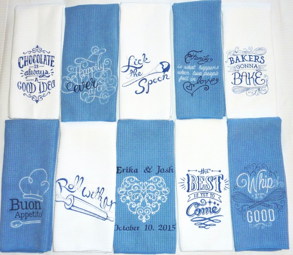 The collection of color coordinated towel set