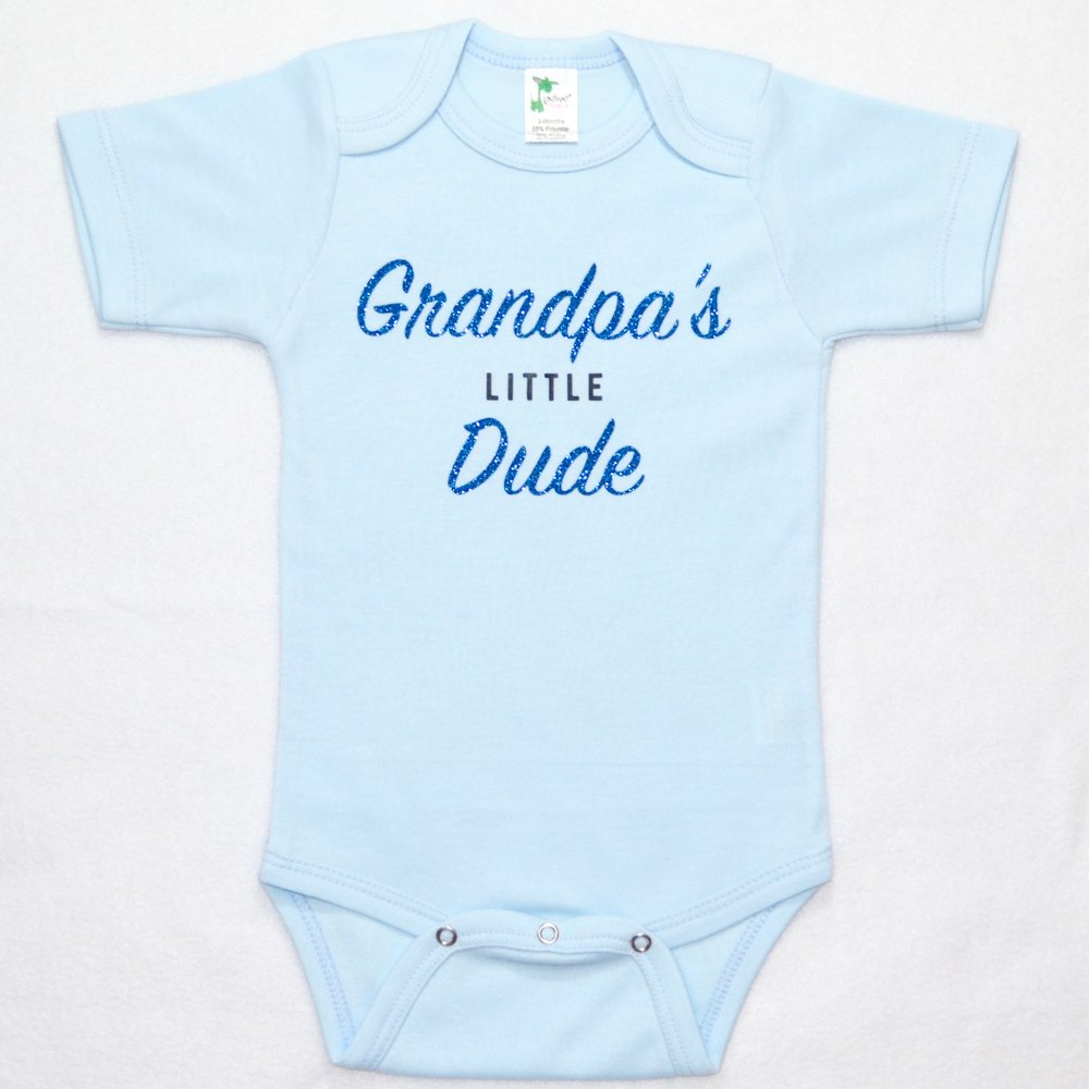 Grandpa's Little Dude Baby Bodysuit