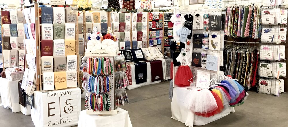 Everyday Embellished's craft show booth