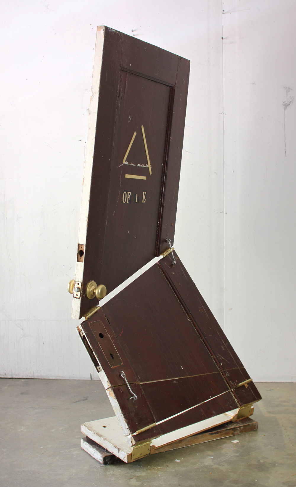 """Joshua Callaghan  Door #2  2012-14 door, hardware 60 X 50 X 42 Inches Courtesy of the Artist         Normal   0           false   false   false     EN-US   X-NONE   X-NONE                                                                                                                                                                                                                                                                                                                                                                                      /* Style Definitions */  table.MsoNormalTable {mso-style-name:""""Table Normal""""; mso-tstyle-rowband-size:0; mso-tstyle-colband-size:0; mso-style-noshow:yes; mso-style-priority:99; mso-style-qformat:yes; mso-style-parent:""""""""; mso-padding-alt:0in 5.4pt 0in 5.4pt; mso-para-margin:0in; mso-para-margin-bottom:.0001pt; mso-pagination:widow-orphan; font-size:10.0pt; font-family:""""Cambria"""",""""serif""""; mso-fareast-font-family:""""MS Mincho""""; mso-bidi-font-family:""""Times New Roman"""";}"""