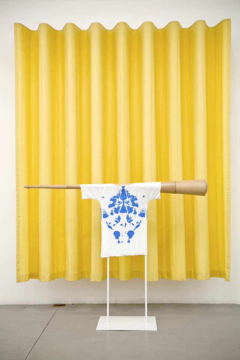 """Torbjorn Vejvi  The object within is the object without (curtain)    2013   Fabric, wood, steel, paint   Dimensions variable  Courtesy of the Artist                                                                                                                                                                                                                                                                                                    /* Style Definitions */  table.MsoNormalTable {mso-style-name:""""Table Normal""""; mso-tstyle-rowband-size:0; mso-tstyle-colband-size:0; mso-style-noshow:yes; mso-style-priority:99; mso-style-qformat:yes; mso-style-parent:""""""""; mso-padding-alt:0in 5.4pt 0in 5.4pt; mso-para-margin-top:0in; mso-para-margin-right:0in; mso-para-margin-bottom:10.0pt; mso-para-margin-left:0in; line-height:115%; mso-pagination:widow-orphan; font-size:10.0pt; font-family:""""Cambria"""",""""serif""""; mso-fareast-font-family:""""MS Mincho""""; mso-bidi-font-family:""""Times New Roman"""";}"""
