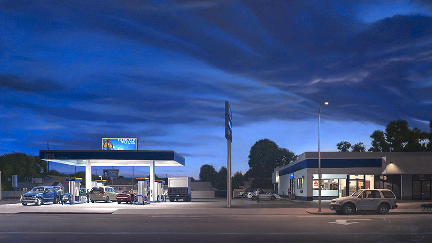 "Marc Trujillo, ""14114 Vanowen Blvd.,"" 2013, oil on polyester over aluminum. (Christopher Knight / Los Angeles Times)"