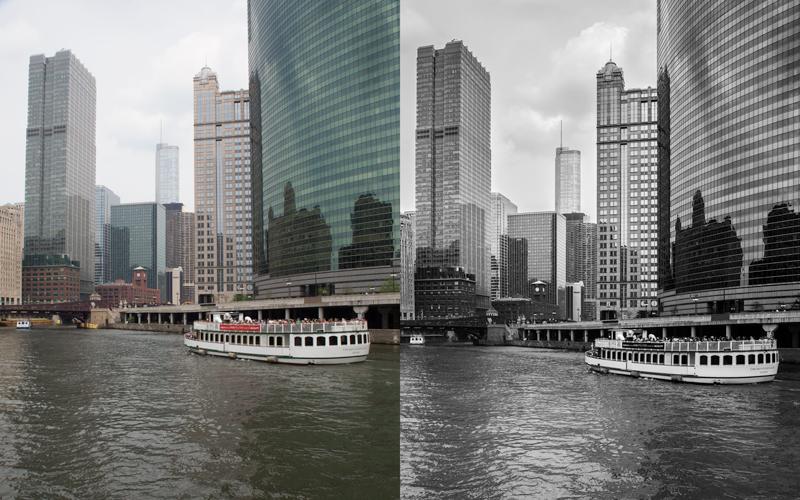 Archivo original en formato RAW de mi fotografía a la izquierda y a la derecha procesada con Lightroom.