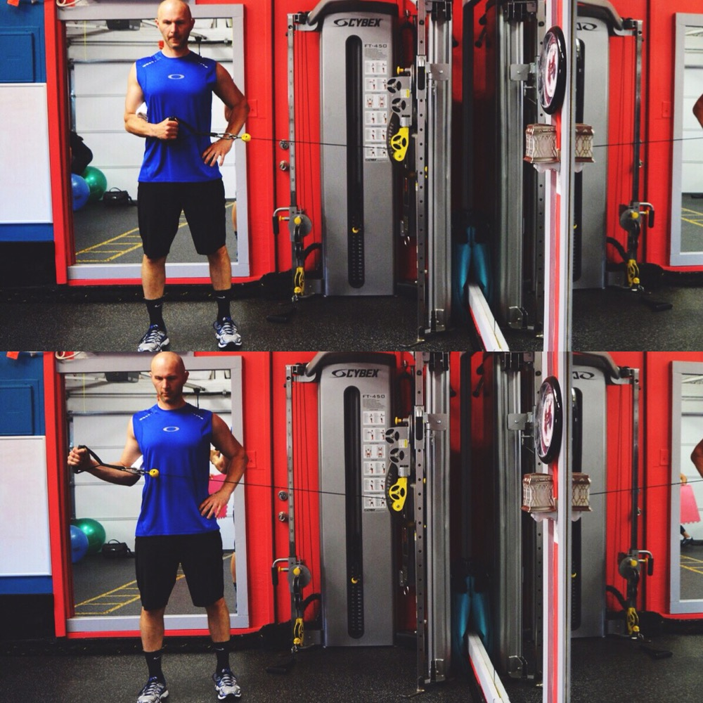 Shoulder Cable Row-External Rotation