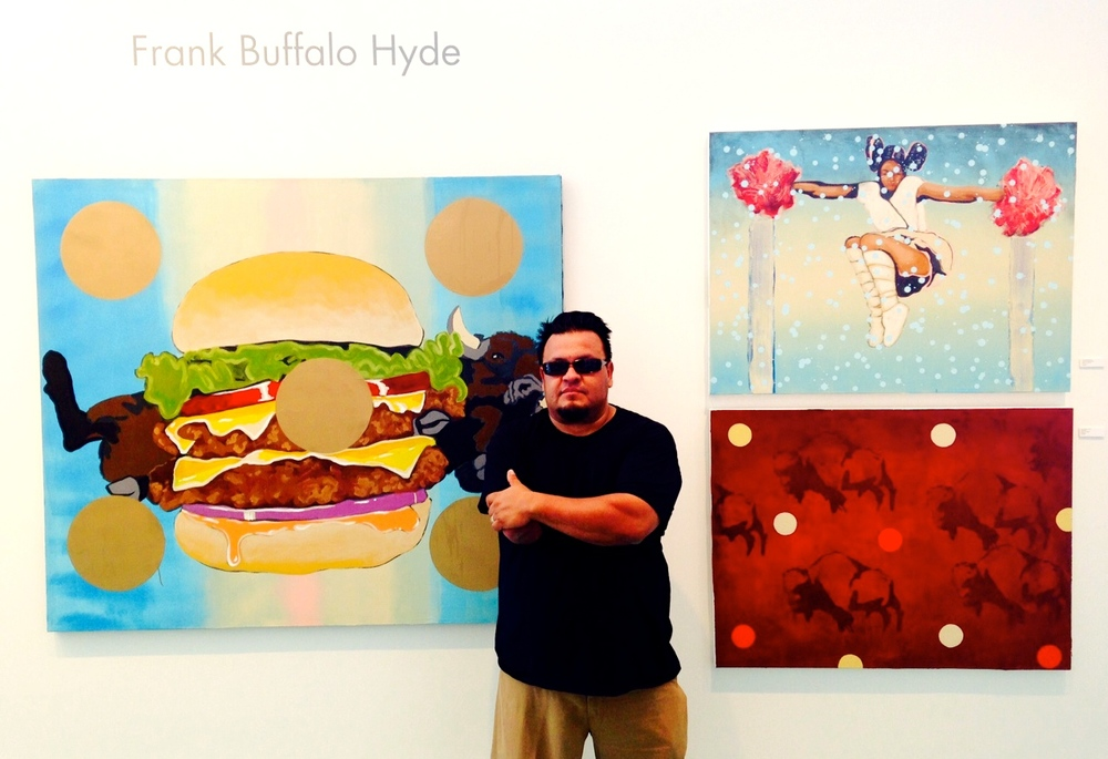Frank Buffalo Hyde at the opening of NDN NOUVEAU.
