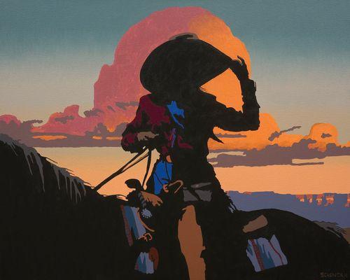 Study II for Adios Mi Amigo,  oil on canvas, 30 x 30 in.