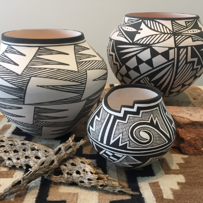 Acoma Pueblo pot Modern West Fine Art Utah