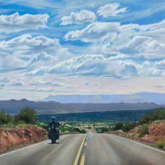 Kevin Kehoe Modern West Fine Art Salt Lake City Road Sky