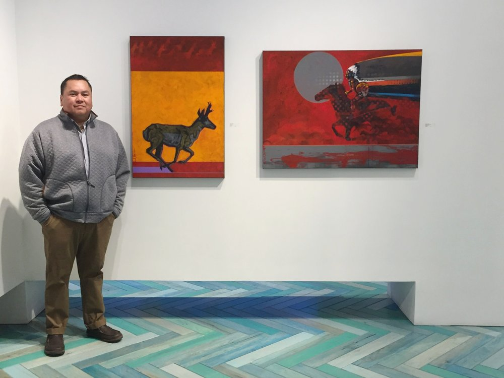 Opening Nocona Burgess art modern west fine art new works