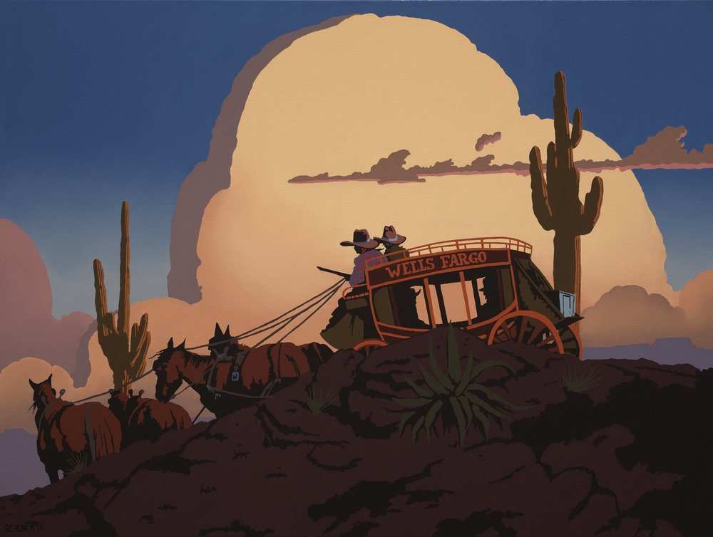 46_Billy+Schenck_On+the+Trail+to+Santa+Fe_oil+on+canvas_30x40in.jpg