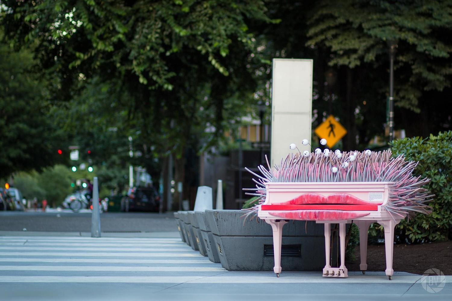 Glasys at the Portland Art Museum — Piano  Push  Play