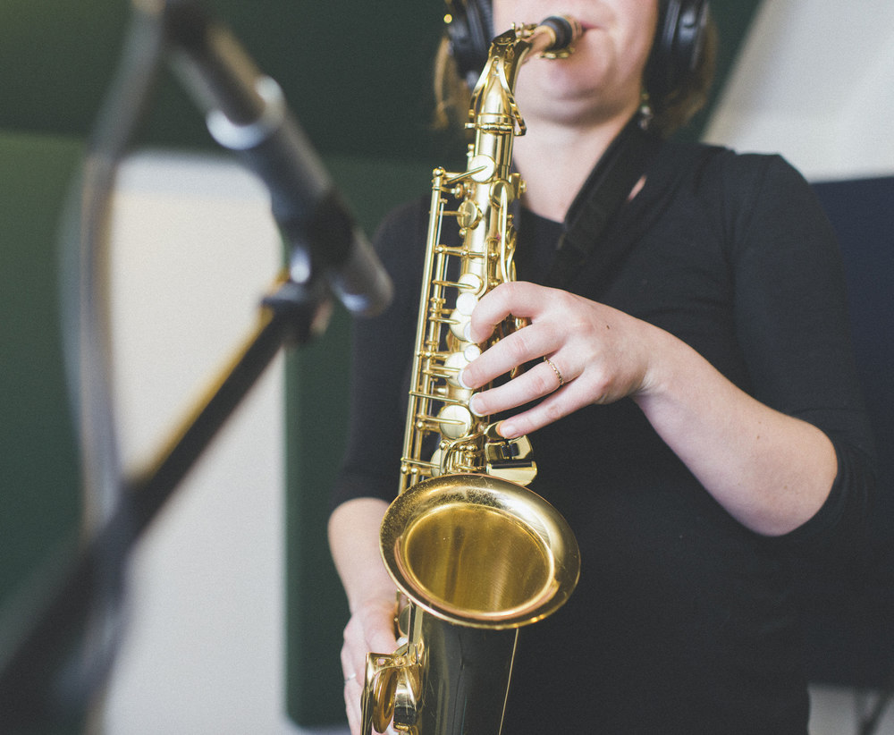 Eve from Sea Bass Kid rocking the sax