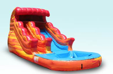 Fire and Ice Water Slide with Pool