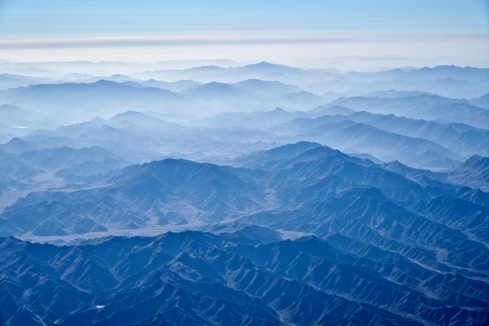 Central mountains of North Korea