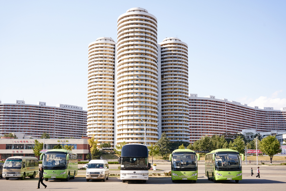 A new modern development built recently in front of the Pyongyang Circus in Mangyongdae district, Pyongyang,NK