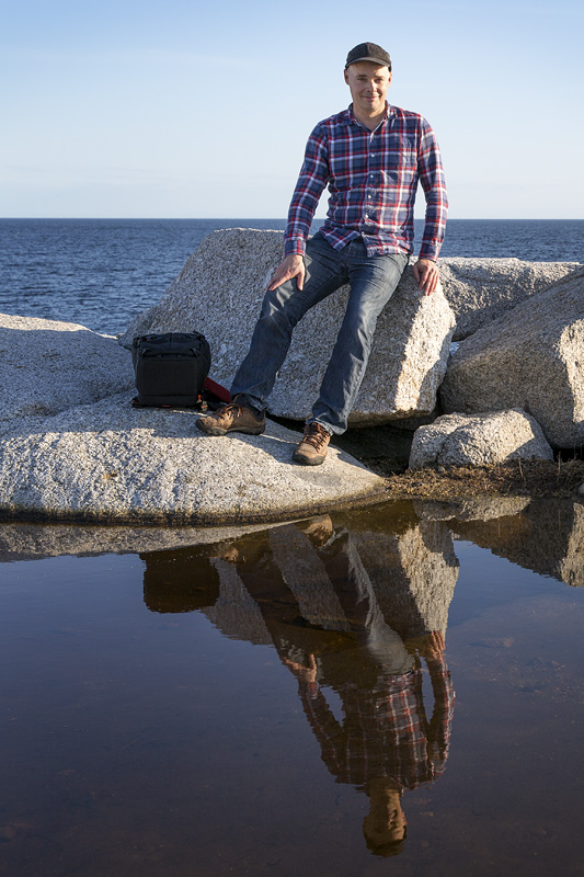 Jeff Friesen among the boulders of the Floating Stones series.