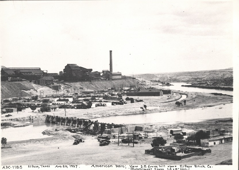 American Dam, 1937. Note the smelter in the background.