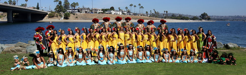 The Motu Nehenehe Polynesian Dancers at PIFA in San Diego.