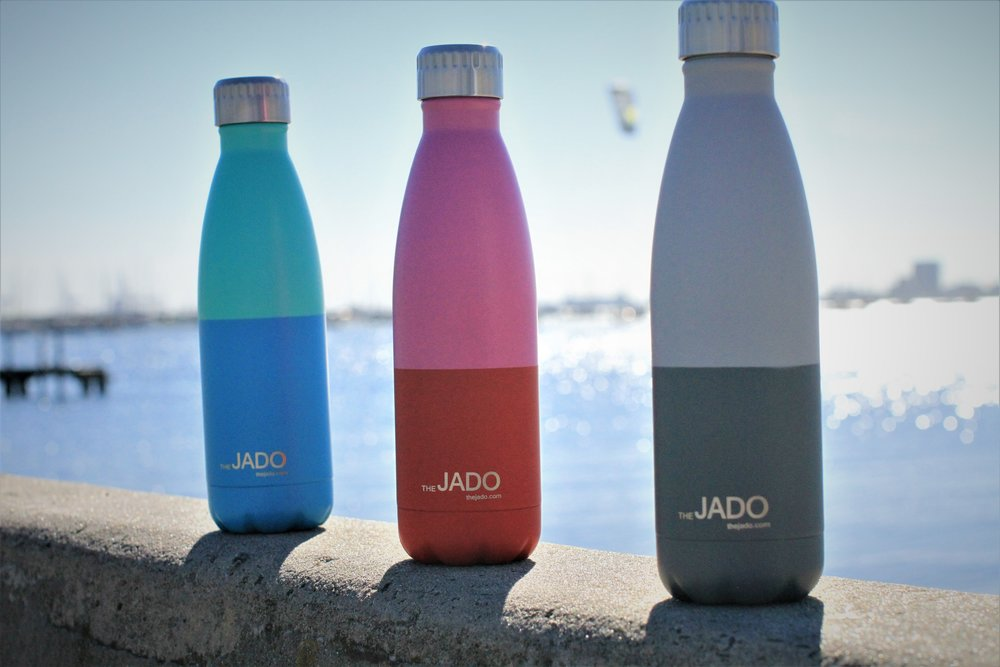 Drink Bottle on beach like a thermos