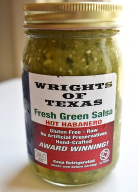 Fresh Green Salsa by Wrights of Texas is so delicious and incredibly fresh. Local Austinites can find it at Central Market. Everyone else can order it cold shipped to their house by visiting their website  here .