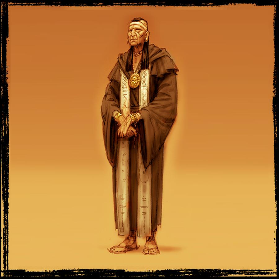 El misteriosoTraductor.   El mayordomo del silencio. Su presencia es el frío instrumento entre ambos mundos.