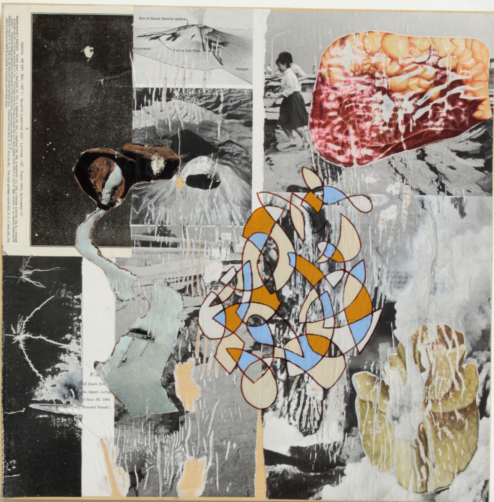 Collage and acrylic on panel  14x18 in.   2014