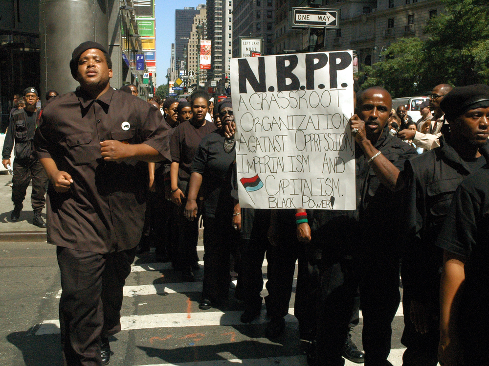 The new Black Panther Party demonstrating at the 2004 RNC in.JPG