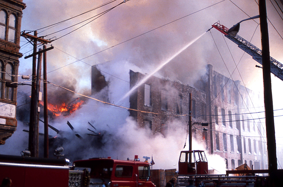 Fire destroys an abandon warehouse on Second Street in Hobok.jpg