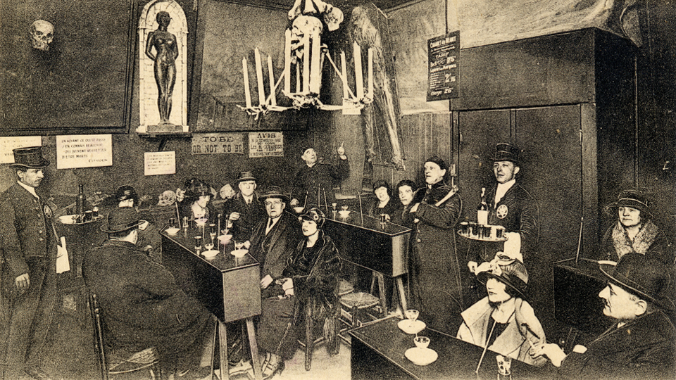 The Cabaret of Nothingness: Intoxication Room / ca. 1920 / The Casas-Rodríguez Postcard Collection / CC via  Flickr