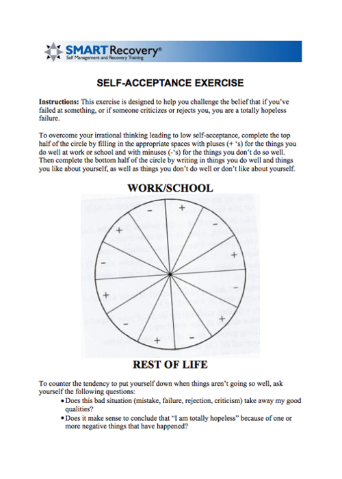 I Loved That Sht KL N S BR – Smart Recovery Worksheets