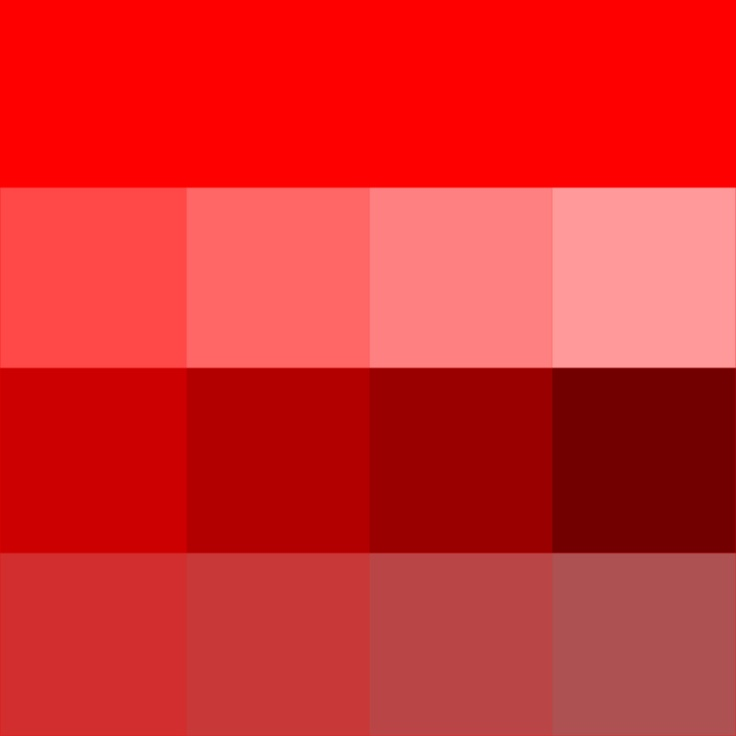 """Red. (But it's a hue.)""  / FYI Chris is color blind so he's not even sure what that means."